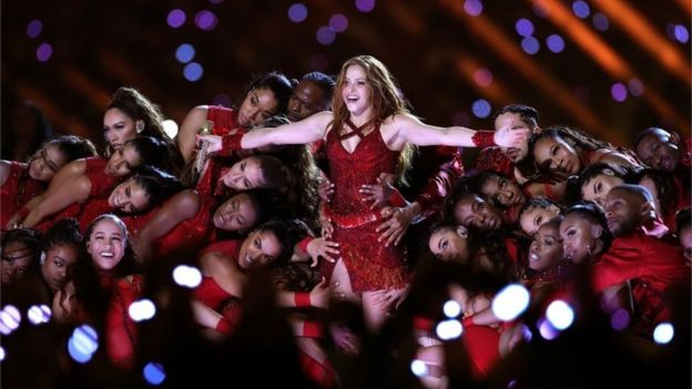 Shakira en el Super Bowl
