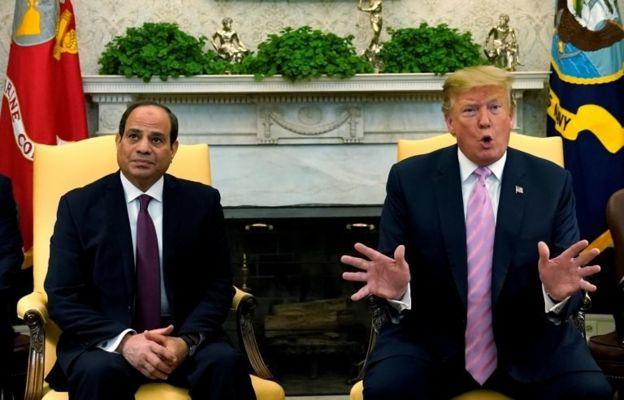 Mısır Cumhurbaşkanı Abdulfettah el-Sisi ve ABD Başkanı Donald Trump