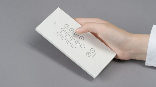 sobre del teléfono