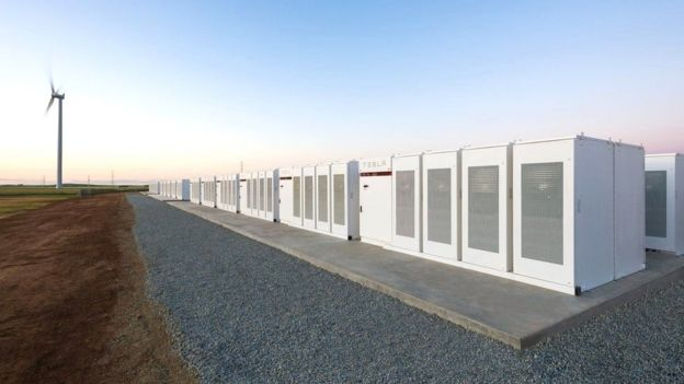Bateria Tesla na Austrália