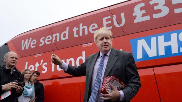 Boris durante la campaña del referendo