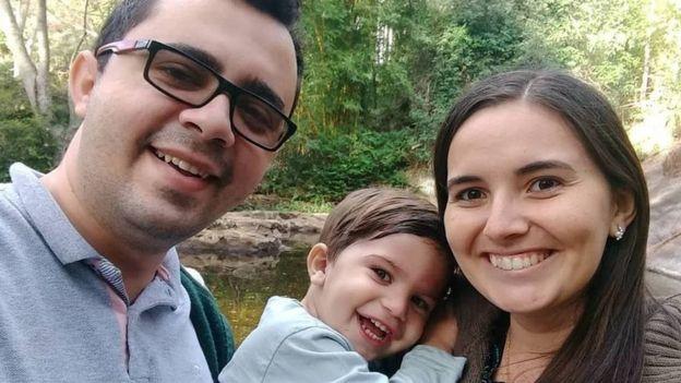 Mailson com a mulher e o filho