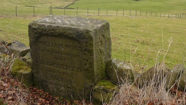 Murder stone commemorating William Wood