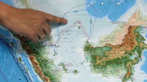 Peta Laut Natuna Utara
