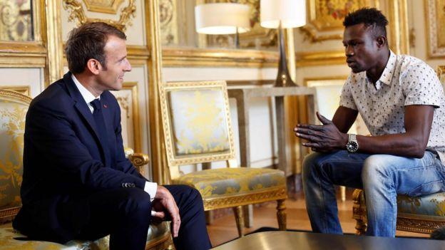 Macron e Mamoudou Gassama