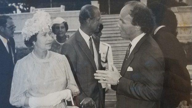 David McCourt meeting Queen Elizabeth II