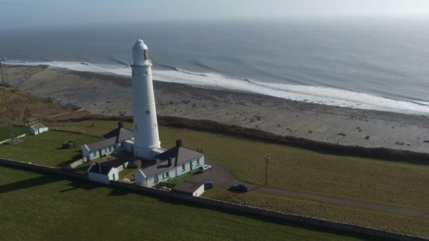 Nash Point lighthouse in south Wales