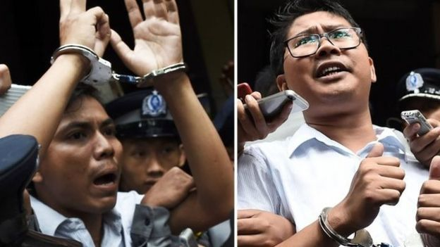 Periodistas detenidos.