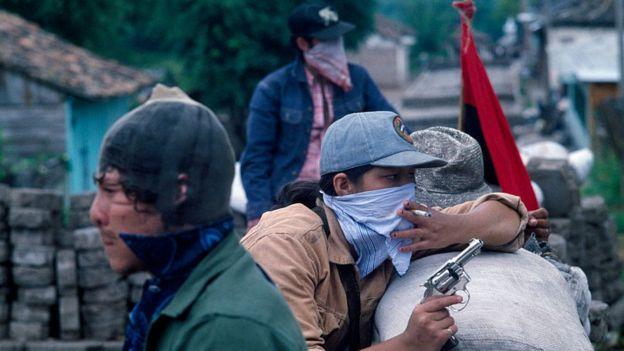 Guerrilleros sandinistas en 1978