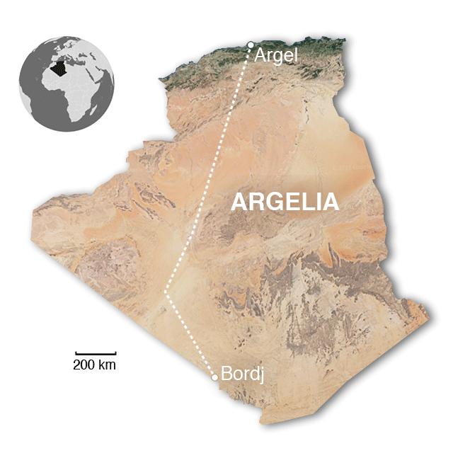 Mapa Argelia