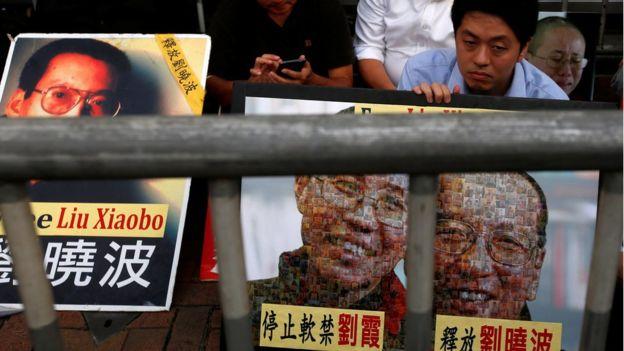 香港民眾參與要求釋放劉曉波的集會