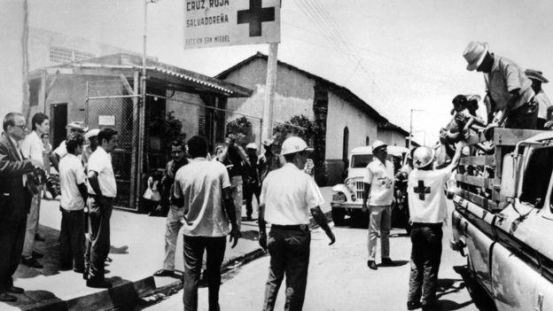 Сальвадорским беженцам помогал Красный Крест