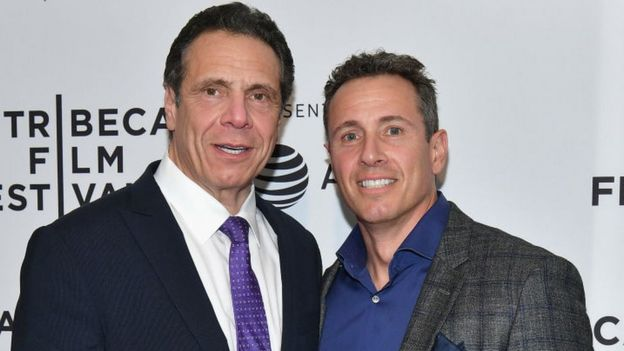 Chris Cuomo and his brother, New York Governor Andrew Cuomo