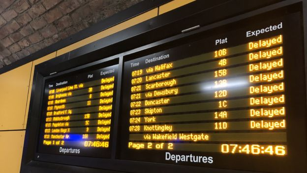 Leeds station: Trains running again after disruption - BBC News