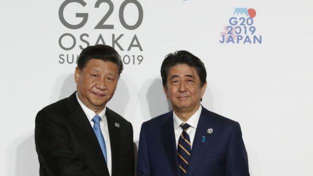 G20峰会习近平与安倍晋三会面