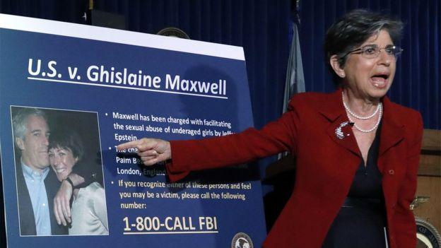 Rueda de prensa de la fiscal interina del distrito sur de Nueva York para presentar los cargos contra Ghislaine Maxwell