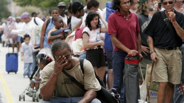 Afectados por el Katrina en Nueva Orleans.