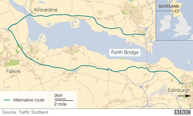 Bridge diversion route