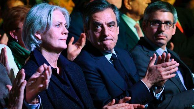François Fillon y su esposa Penelope