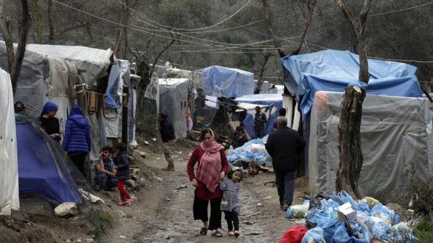Midilli'de mülteciler