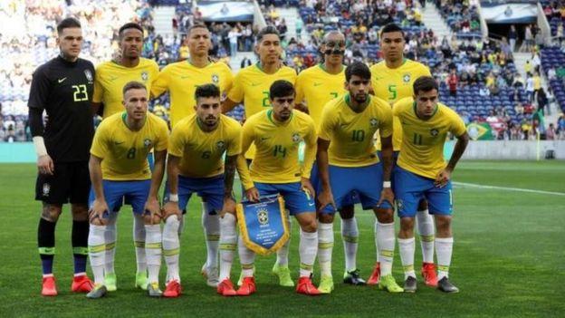 L'équipe nationale du Brésil