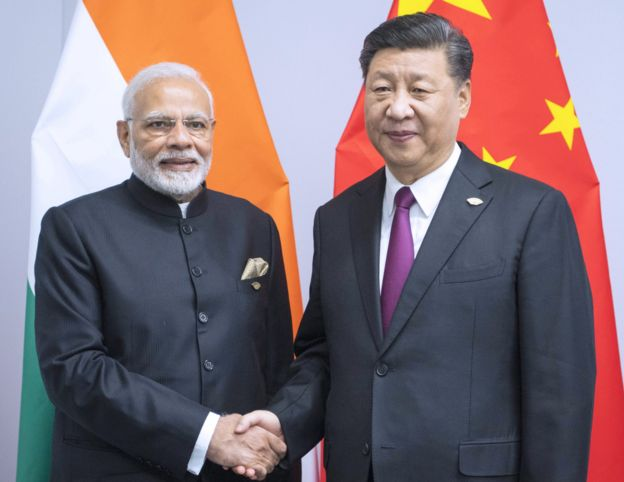 印度总理莫迪与习近平