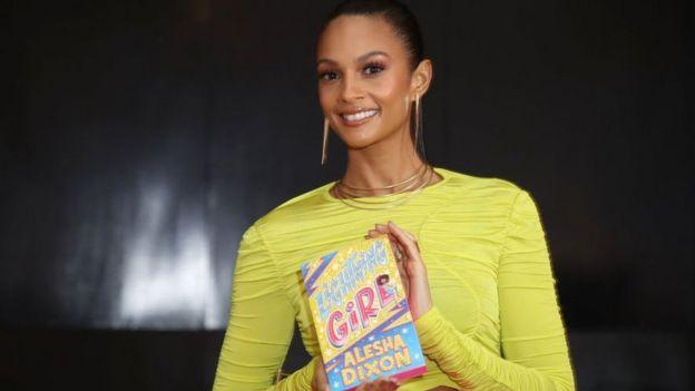 Alesha Dixon with her book