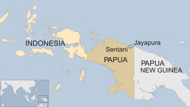Indonesia floods: Dozens dead in Papua province - BBC News on nigeria map, sumatra map, latin america map, sri lanka map, arabia map, tunisia map, japan map, israel map, haiti map, new zealand, the balkans map, papua new guinea map, irian jaya map, china map, europe map, far east map, asia map, drc map, bali map, poland map, south korea, mexico map,