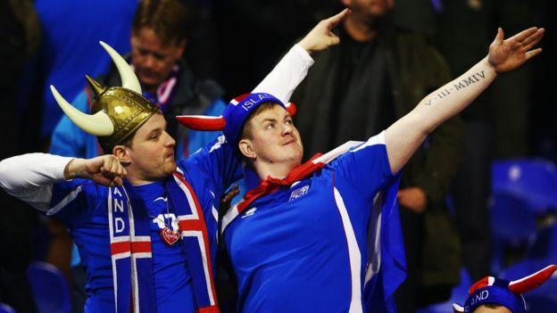 Aficionados de Islandia.