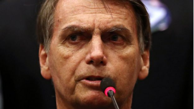 Presidente eleito do Brasil, Jair Bolsonaro