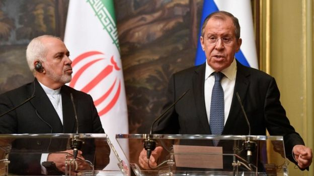 لافروف وظريف في مؤتمر صحفي بموسكو