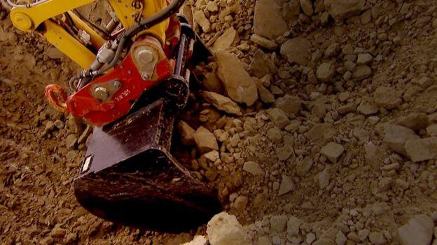 Escavadeira da Komatsu