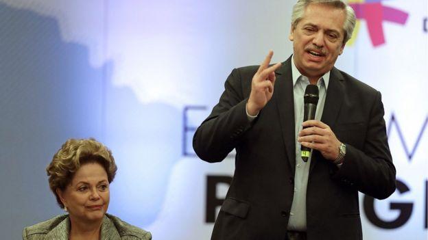 Dilma e Fernández em encontro do Grupo de Puebla