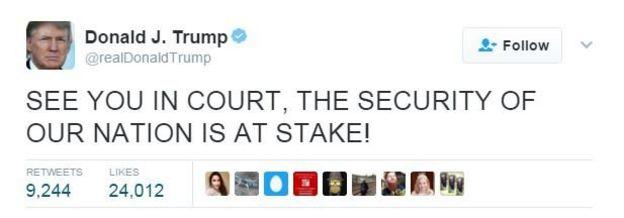 Trump'ın Twitter mesajı