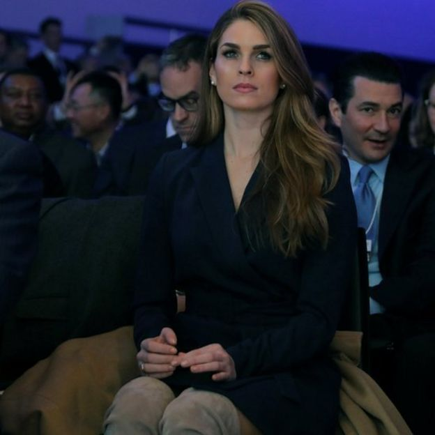 White House Communications Director Hope Hicks at Davos, Switzerland, last month