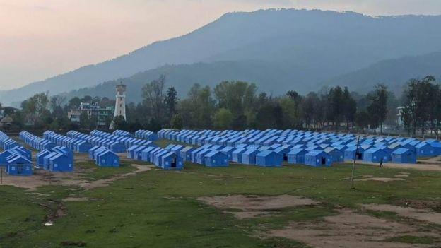 सुर्खेतको वीरेन्द्रनगरमा नेपाली सेनाको रेखदेखमा सञ्चालन गरिएको क्वारन्टीन