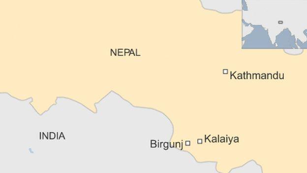 A map of Nepal