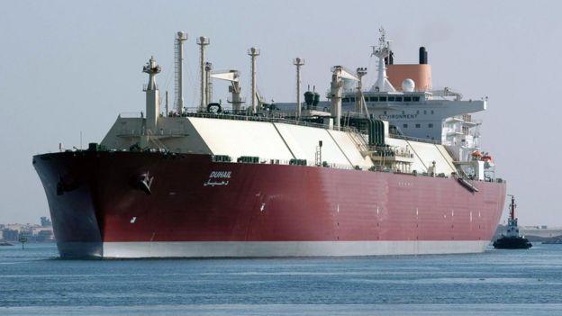 A Qatari LNG ship