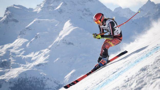 Remarkable, women skiing nude