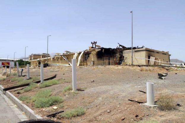 ساختمان محل حادثه در نطنز