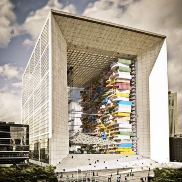 La Grande Arche de La Défense de París