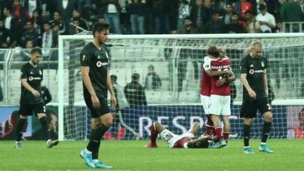 Beşiktaş-Braga maçından bir kare