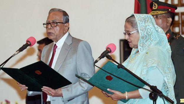 রাষ্ট্রপতি আবদুল হামিদ ও প্রধানমন্ত্রী শেখ হাসিনা