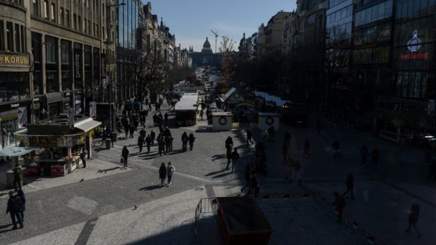 The cobbles of Wenceslas Square