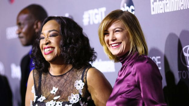 Shonda Rhimes and Ellen Pompeo