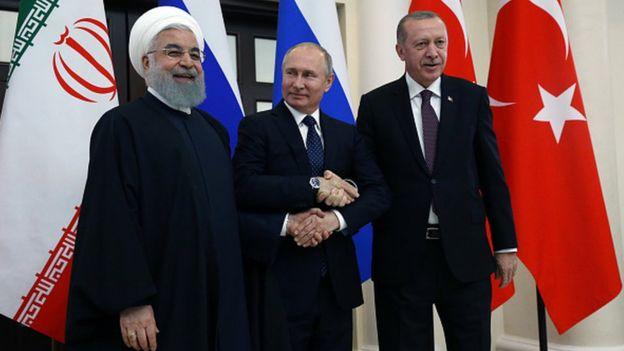İran, Rusya ve Türkiye arasında Suriye konulu üçlü zirvelerin dördüncüsü, şubat ayında yapıldı.