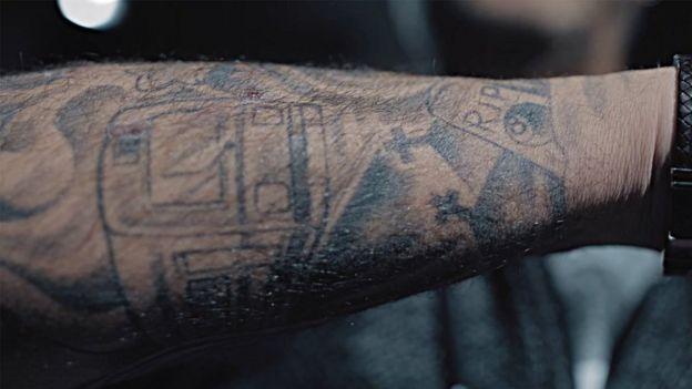Los tatuajes de Javier García