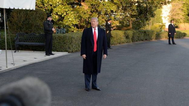 Donald Trump fala na Casa Branca