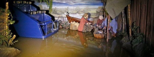 The Jorvik Viking Centre attraction in York which has been closed due to flooding