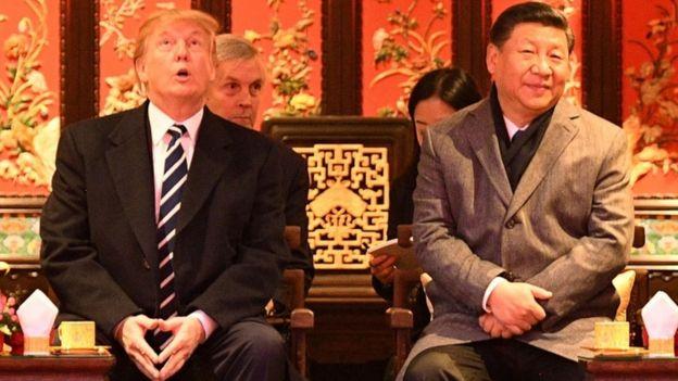 特朗普上月訪問中國